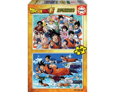 PUZZLE 2X100 DRAGON BALL FSC