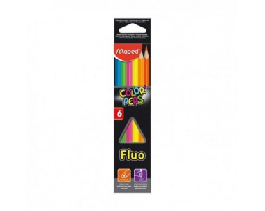 LAPICES COLOR PEPS FLUO X6...